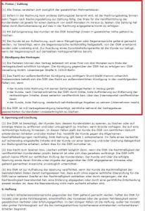 Ziffer 6. Peise / Zahlung und Ziffer 7. Kündigung des Vertrages bei der ÖGR GmbH.