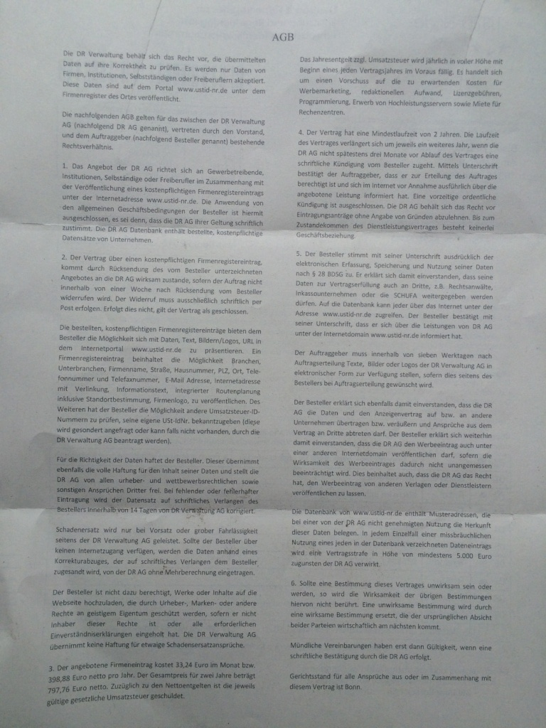 Dr Verwaltung Ag Abzocke