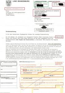 echte Handelsregistereintrag Rechnung Gebühr