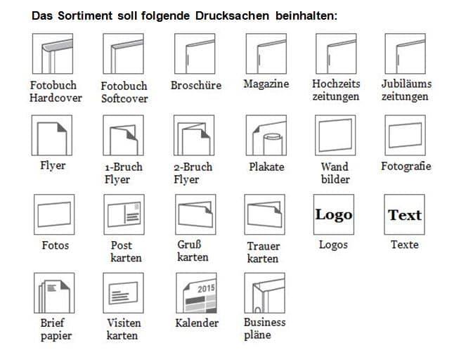 Leistungen für Grafikdesign.
