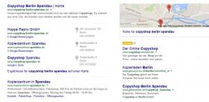 Drei Beispiele für perfekte lokale Suchmaschinenoptimierung mittels Domain.