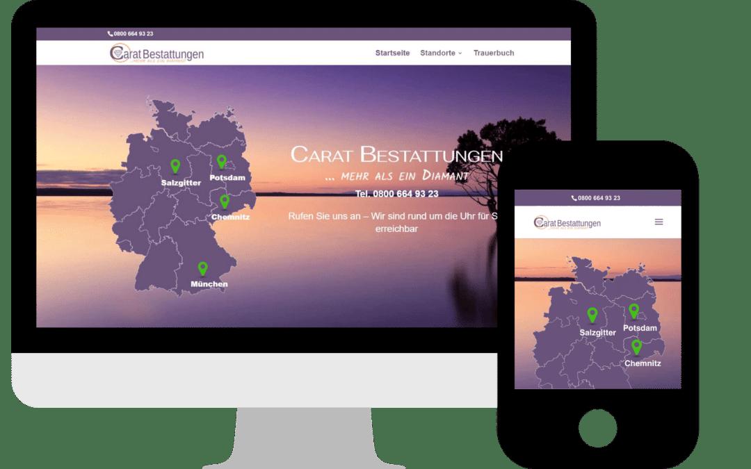 Webdesign für Bestatter / Bestattungsunternehmen