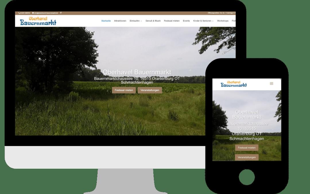 Webdesign für den Oberhavel Bauernmarkt in Oranienburg