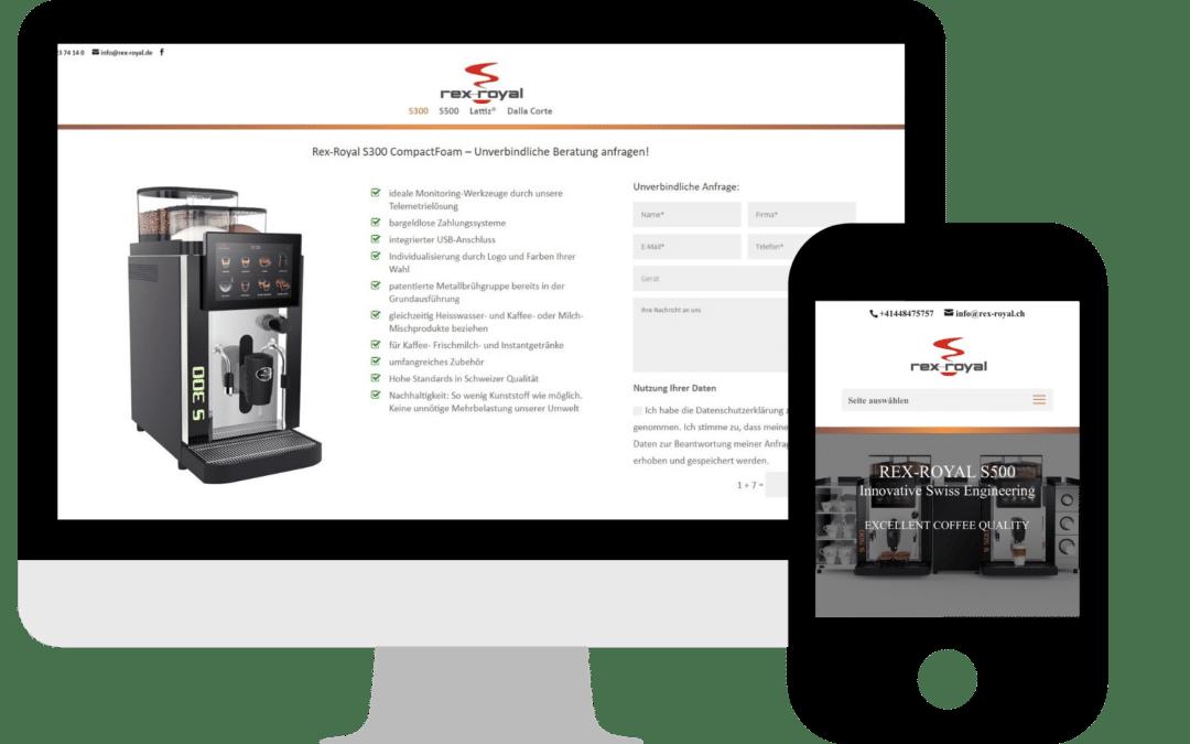 Webdesign für die Rex-Royal GmbH in Rheinfelden