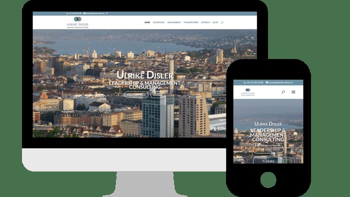 Webdesign Ulrike Disler Consulting & Coaching in Zürich / Schweiz