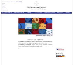 Boehmert & Boehmert Patentanwalt & Markenwalt.