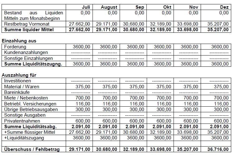folgejahr - Businessplan Muster Kostenlos
