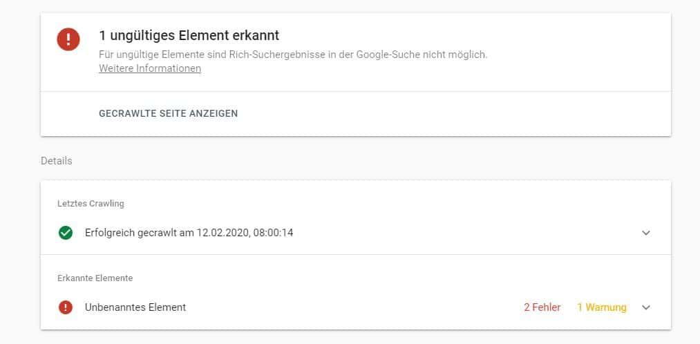 Google Search Console Fehler: Probleme mit Rezensions-Snippet-Markup gefunden